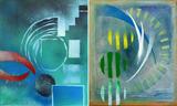Gruppierung 2013-C (2013-10 2013-06) Acrylspray Leinwand (60x100 cm)