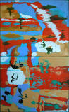 Gruppierung 2010-A ML (2010-05 2010-06) Öl Leinwand (100x60 cm)