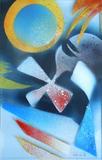 2013-02 Acrylspray Acrylplatte (40x25 cm)