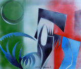 2015-12 Acrylspray Acrylplatte (30x50 cm)