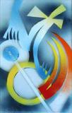 2013-01 Acrylspray Acrylplatte (40x25 cm)