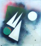 2015-08 Acrylspray Acrylplatte (50x45 cm)