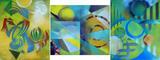 Gruppierung 2013-D (2013-04 2013-03 2012-31) Acrylspray Aluminiumblech (60x160 cm)