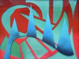 2016-12 Acrylspray Acrylplatte (31x45 cm)