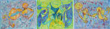 Gruppierung 2020-A (2020-08 2020-09 2020-10) Acrylspray Leinwand (80x300 cm)