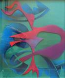 2016-03 Acrylspray Acrylplatte (60x50 cm)