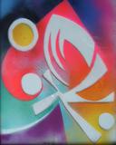 2016-05 Acrylspray Acrylplatte (50x40 cm)