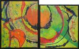 Gruppierung 2020-D ML (2020-16 ML 2020-17 ML) Öl Leinwand (60-50x100 cm)