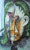 1960-04 Wasserfarbe Papier (77x47 cm)
