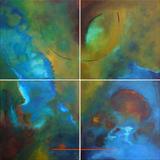 Gruppierung 2010-A (2010-05 2010-04 2010-02 2010-03) Acryl Leinwand (100x100 cm)