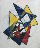1980-02 Acryl Hartholzplatte (70x60 cm)