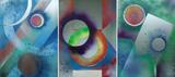 Gruppierung 2013-E (2013-16 2013-17 2013-18) Acrylspray Aluminiumblech (80x180 cm)